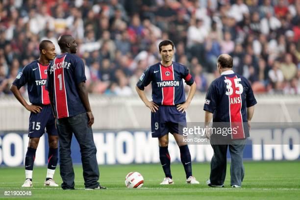 Bovanture KALOU / Ladji DOUCOURE et PAULETA 35 ans du PSG Paris Saint Germain / Nice 5eme Journee de Ligue 1