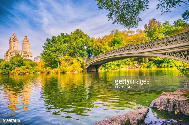 bow bridge in Central Park at Autumn New York Manhattan photo