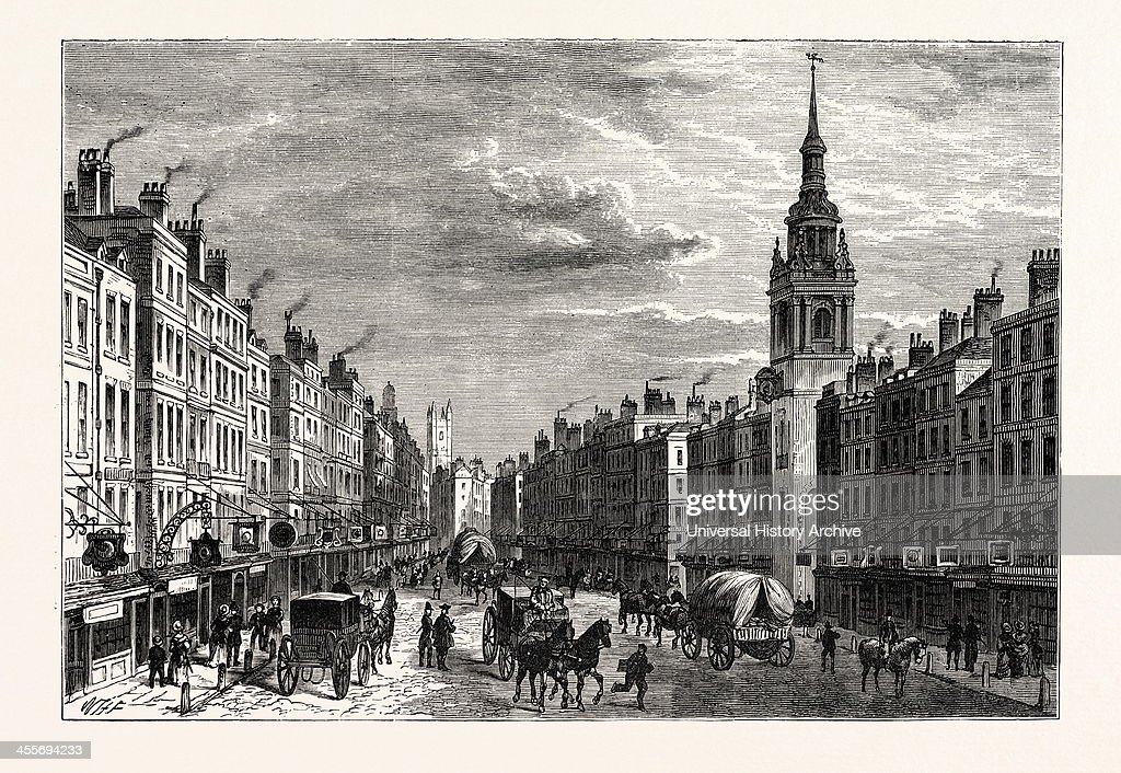 Bow Church And Cheapside In 1750, London : News Photo