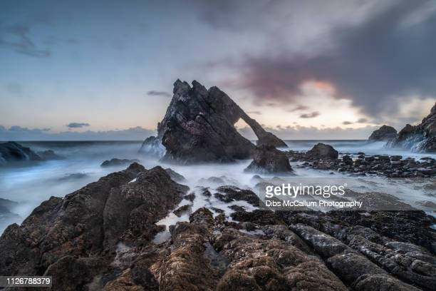 bow fiddle rock - grampian scotland stock pictures, royalty-free photos & images