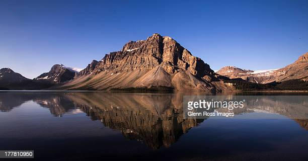 bow lake, banff national park, alberta, canada - ross lake stock photos and pictures