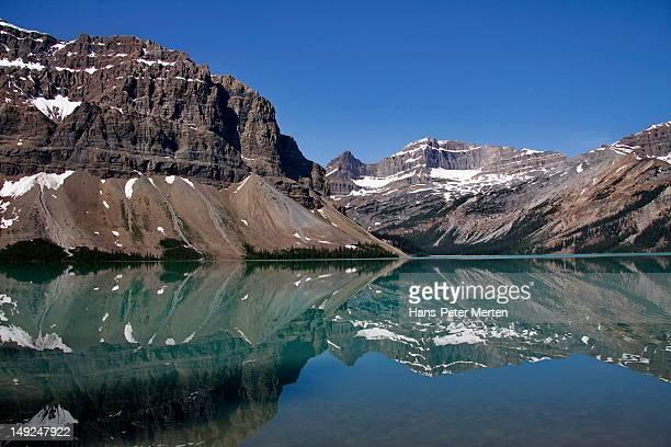 bow lake, banff nationalpark, alberta - kanada stock pictures, royalty-free photos & images
