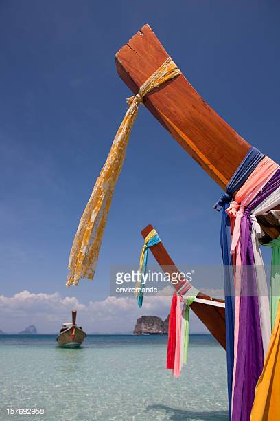 Bow of a long-tailed boat, Thailand.