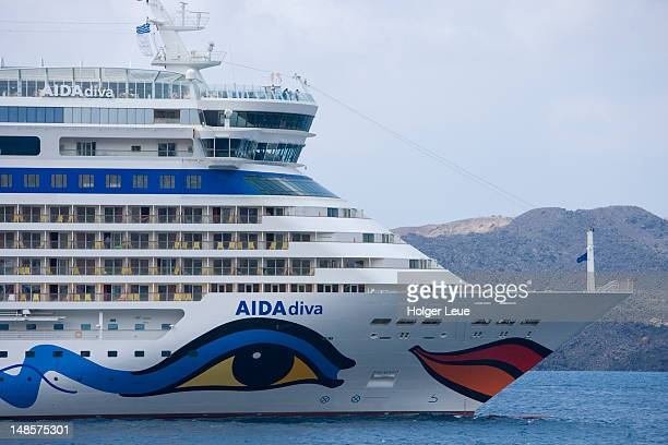 Bow of cruiseship AIDAdiva.