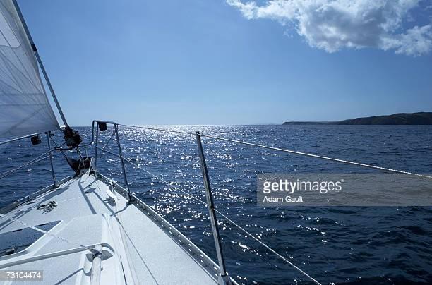 Bow of sailboat