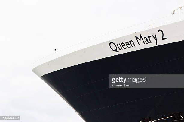 リボンの女王メアリー 2 - rms クイーン メアリー 2 ストックフォトと画像
