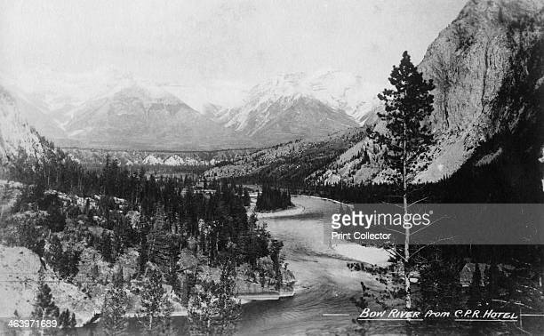 Bow River from the CPR Hotel, Banff, Alberta, Canada, c1930s. Canadian Pacific Hotels was a division of the Canadian Pacific Railway that operated a...