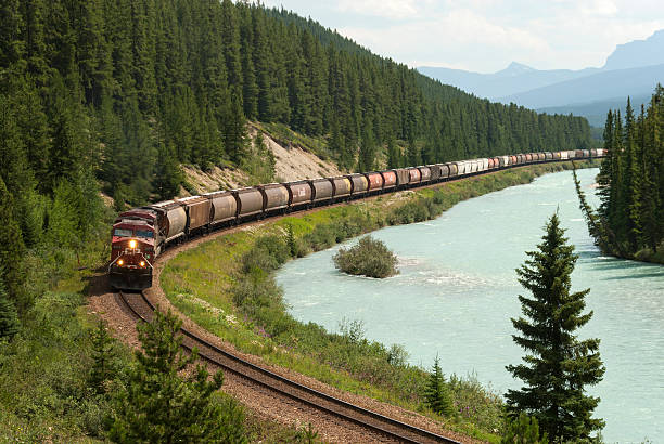 Bow River valley, Canadian Pacific Railroad train