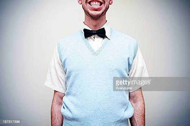 Bow Tie Smile Business Man with Copy Space