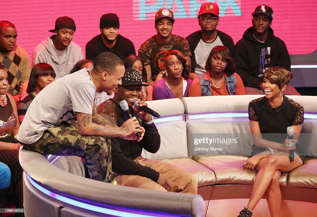 Bow Wow, 50 Cent and Miss Mykie visits BET's '106 & Park' at BET Studios on January 17, 2013 in New York City.