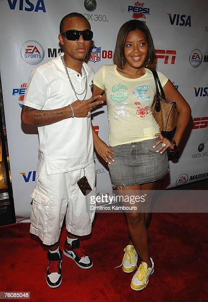 Bow Wow and Angela Simmons attend the after party for the Launch of Madden NFL 08 For Xbox 360 at the ESPN Zone on August 13 2007 in New York City