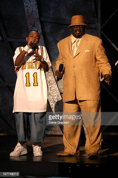 Bow Wow and Cedric The Entertainer introduce a montage of Earvin 'Magic' Johnson's Career for Humanitarian Award