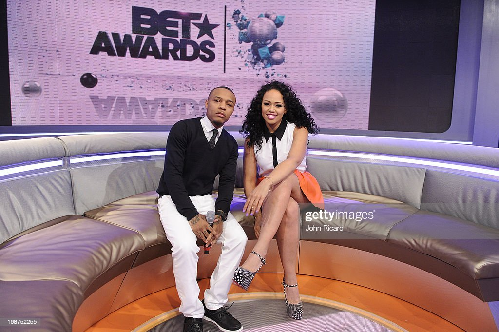 Bow Wow and Elle Varner Present 2013 BET Awards Nominations at 106 & Park Studio on May 14, 2013 in New York City.