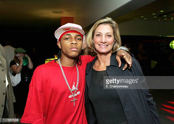 Bow Wow and Fox 2000's Elizabeth Gabler during FoxSearchlight Pictures Present the Los Angeles Premiere of Roll Bounce After Party at The Bridge at...