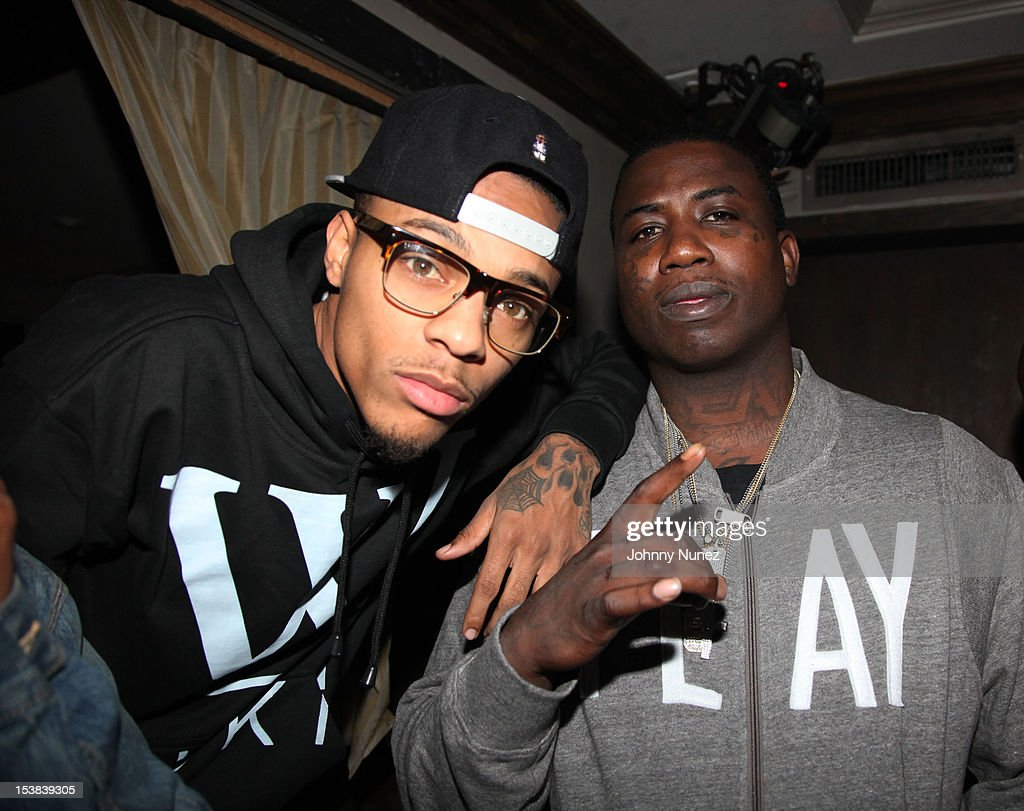 Bow Wow and Gucci Mane attend Machine Gun Kelly's Album Release Party at RDV on October 8, 2012 in New York City.