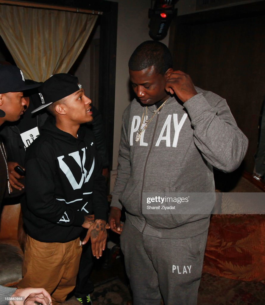 Bow Wow and Gucci Mane attends the Machine Gun Kelly Album Release Party at RdV Lounge on October 8, 2012 in New York City.