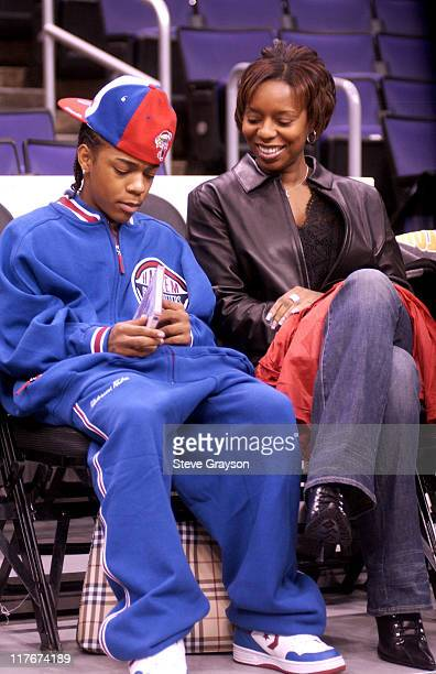 Bow Wow and his Mother look over the soon to be released video Like Mike