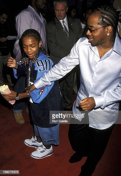 Bow Wow and Jermaine Dupri during Hardball Premiere at Paramount Pictures Studios in Los Angeles California United States