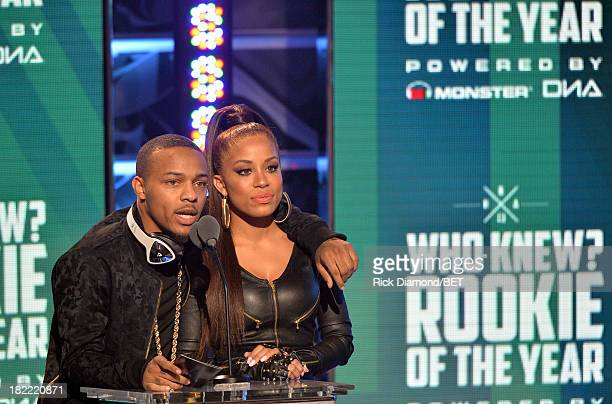 Bow Wow and Keshia Chante present the Rookie of the Year Award award onstage at the BET Hip Hop Awards 2013 at Boisfeuillet Jones Atlanta Civic...