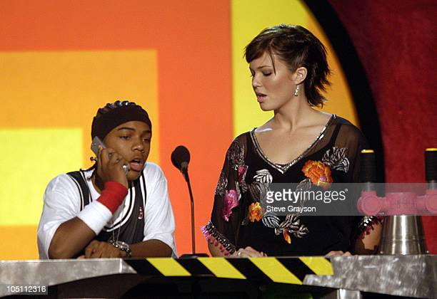 Bow Wow and Mandy Moore during Nickelodeon's 16th Annual Kids' Choice Awards 2003 Show at Barker Hangar in Santa Monica California United States