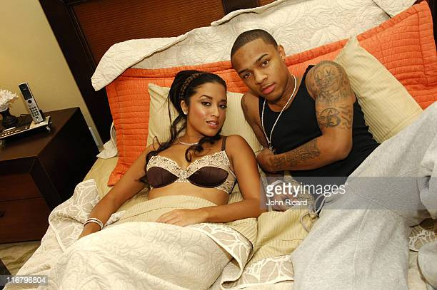 Bow Wow and model Rianna during Bow Wow on the Set of Outta My System Music Video Featuring TPain February 3 2007 at Metropolis Studios in Los...