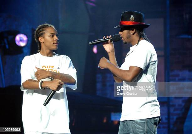 Bow Wow and Omarion during 33rd Annual American Music Awards Rehearsals Day 4 at Shrine Auditorium in Los Angeles California United States