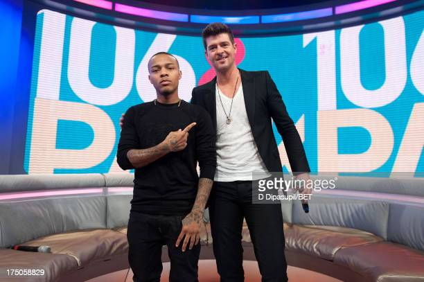Bow Wow and Robin Thicke visit BET's '106 Park' at BET Studios on July 29 2013 in New York City