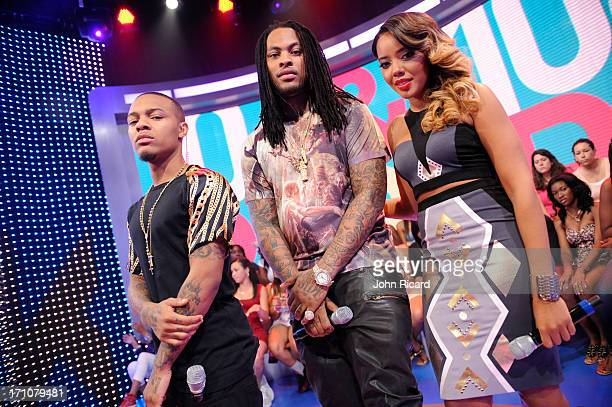 Bow Wow Angela Simmons and Waka Flocka Flame at BET's 106 Park visits BET Studios on June 19 2013 in New York City