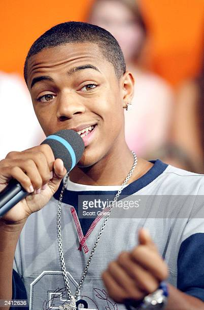 Bow Wow appears on stage during MTV's Total Request Live at the MTV Times Square Studios August 20 2003 in New York City