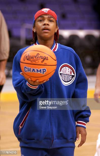 Bow Wow during Bow Wow Gives Los Angeles School Kids A Chance To Be 'Like Mike' at Staples Center in Los Angeles California United States