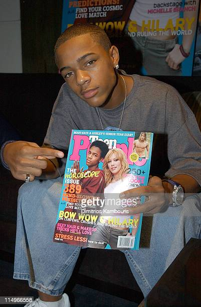 Bow Wow during Hilary Duff and Bow Wow Join Teen People to Celebrate New October Issue and Release of Their CDs in New York New York United States