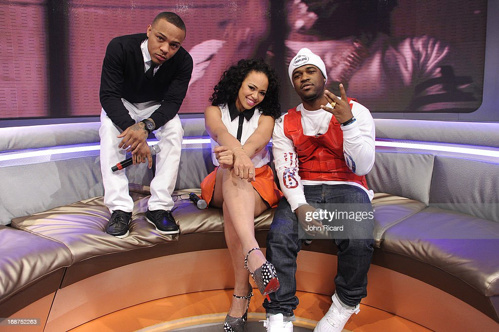 Bow Wow, Elle Varner and A$AP Ferg Present 2013 BET Awards Nominations at 106 & Park Studio on May 14, 2013 in New York City.