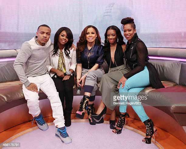 Bow Wow Gabby Douglas Keshia Chante Imani Hakim and Regina King attend 106 Park at BET studio on January 30 2014 in New York City