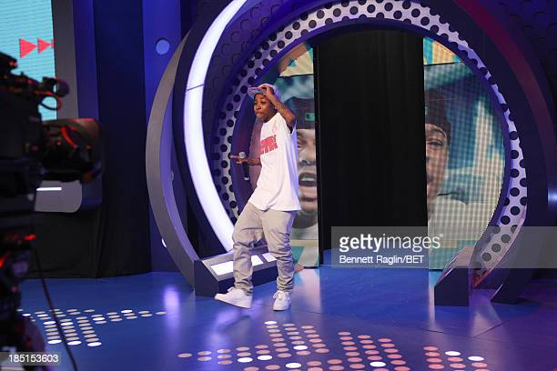 Bow Wow impersonator Mattie Dee Pimpin Brown visits 106 Park at 106 Park studio on October 17 2013 in New York City