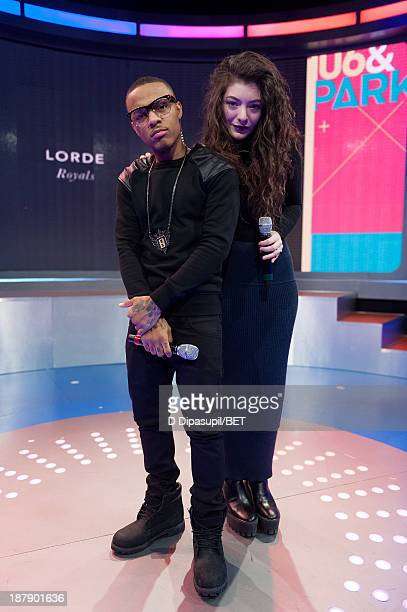 Bow Wow interviews Lorde during her visit to BET's '106 Park' at BET Studios on November 12 2013 in New York City