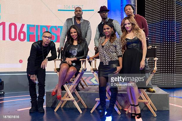 Bow Wow interviews Sanaa Lathan Morris Chestnut Taye Diggs Nia Long Terrence Howard and Melissa De Sousa during their visit to BET's '106 Park' at...