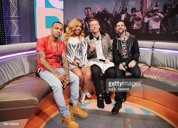 Bow Wow K Michelle Macklemore and Ryan Lewis visit BET's '106 Park' at BET Studios on May 20 2013 in New York City