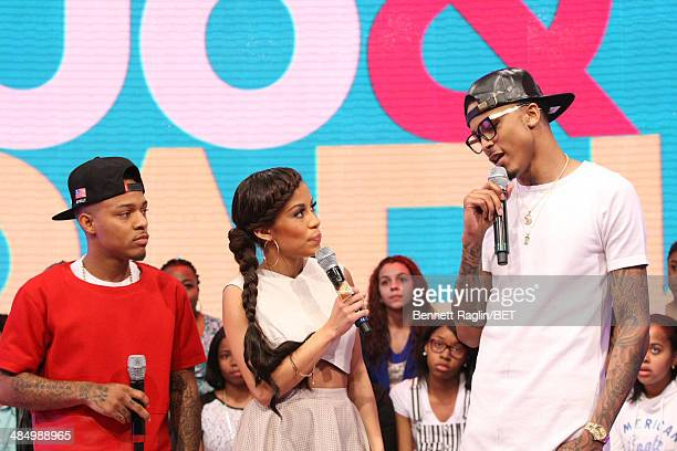 Bow Wow Keshia Chante and August Alsina attend 106 Park at BET studio April 14 2014 in New York City