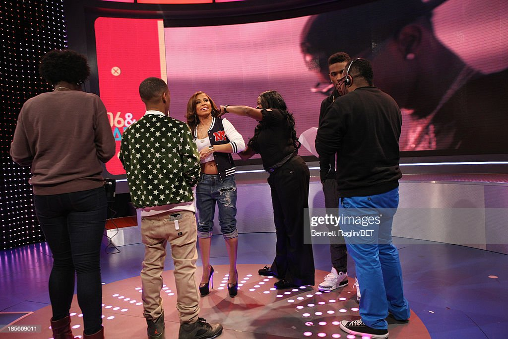 Bow Wow, Keshia Chante, and B. Smyth attend 106 & Park at 106 & Park studio on October 22, 2013 in New York City.