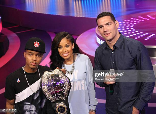 Bow Wow, Keshia Chante, and Chris Weidman attend 106 & Park at BET studio on June 23, 2014 in New York City.