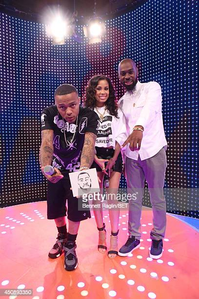 Bow Wow Keshia Chante and Mali Music attend 106 Park at BET studio on June 18 2014 in New York City