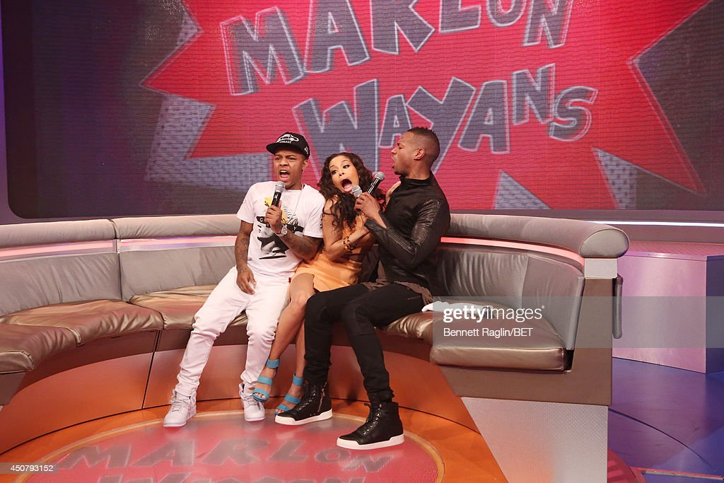 Bow Wow, Keshia Chante, and Marlon Wayans attend 106 & Park at BET studio on June 16, 2014 in New York City.