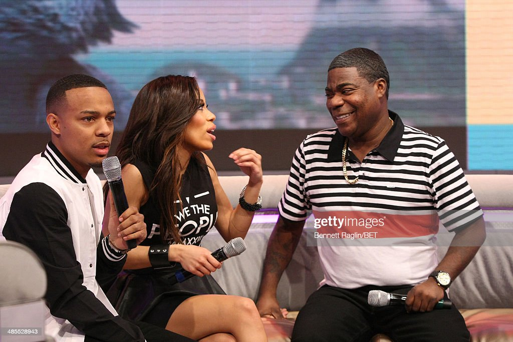 Bow Wow, Keshia Chante, and Tracy Morgan attend 106 & Park at BET studio on April 16, 2014 in New York City.