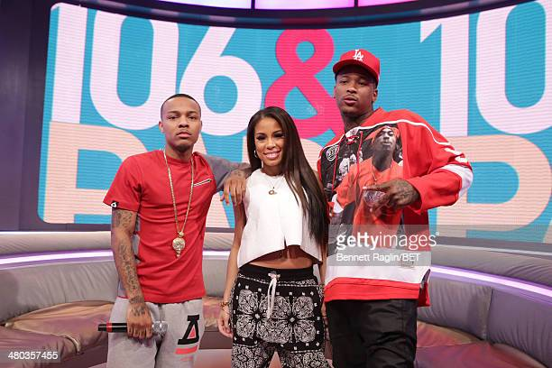 Bow Wow Keshia Chante and YG attend 106 Park at BET studio on March 24 2014 in New York City