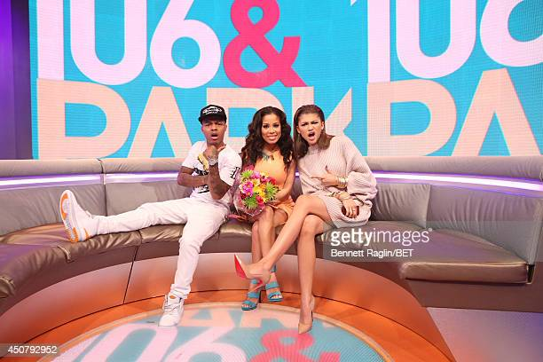 Bow Wow Keshia Chante and Zendaya visit 106 Park at BET studio on June 16 2014 in New York City