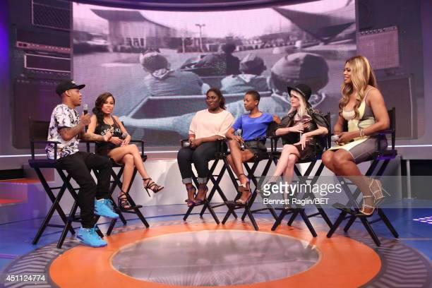 Bow Wow Keshia Chante Danielle Brooks Samira Wiley Taryn Manning and Laverne Cox visit 106 Park at BET studio on June 23 2014 in New York City