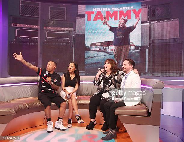 Bow Wow Keshia Chante Melissa McCarthy and Ben Falcone attend 106 Park at BET studio on June 25 2014 in New York City