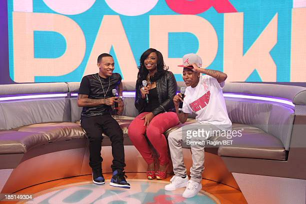 Bow Wow Keyonnah Abrams and Mattie Dee Pimpin Brown attend 106 Park at 106 Park on October 17 2013 in New York City