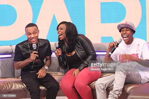 Bow Wow Keyonnah Abrams and Mattie Dee Pimpin Brown attend 106 Park at 106 Park studio on October 17 2013 in New York City