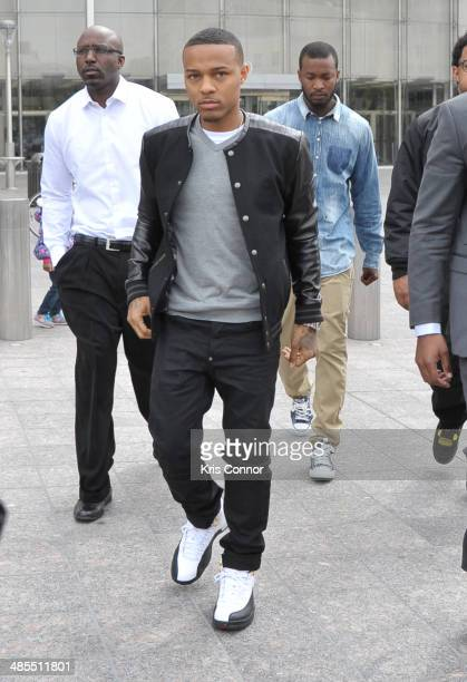 Bow Wow leaves the H Carl Moultrie I Superior Court House where the Chris Brown and his bodyguard Christopher Hollosy assualt trials are taking place...